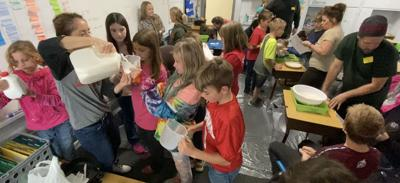 CVES students participate in classroom science experiments