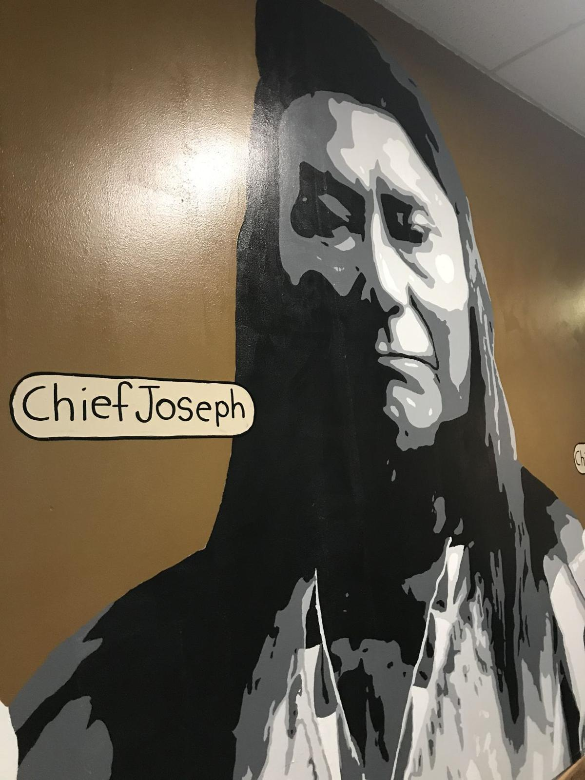 GEMS mural of Chief Joseph