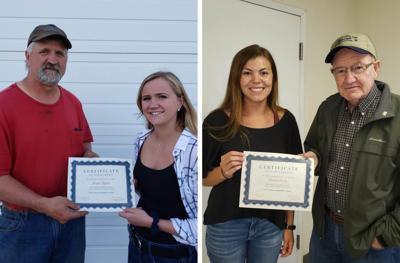 Jordyn Higgins and Kendra Duclos receive scholarships