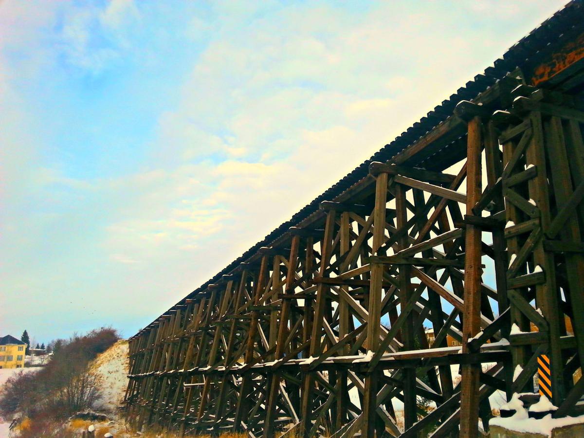 Cottonwood Train Trestle View