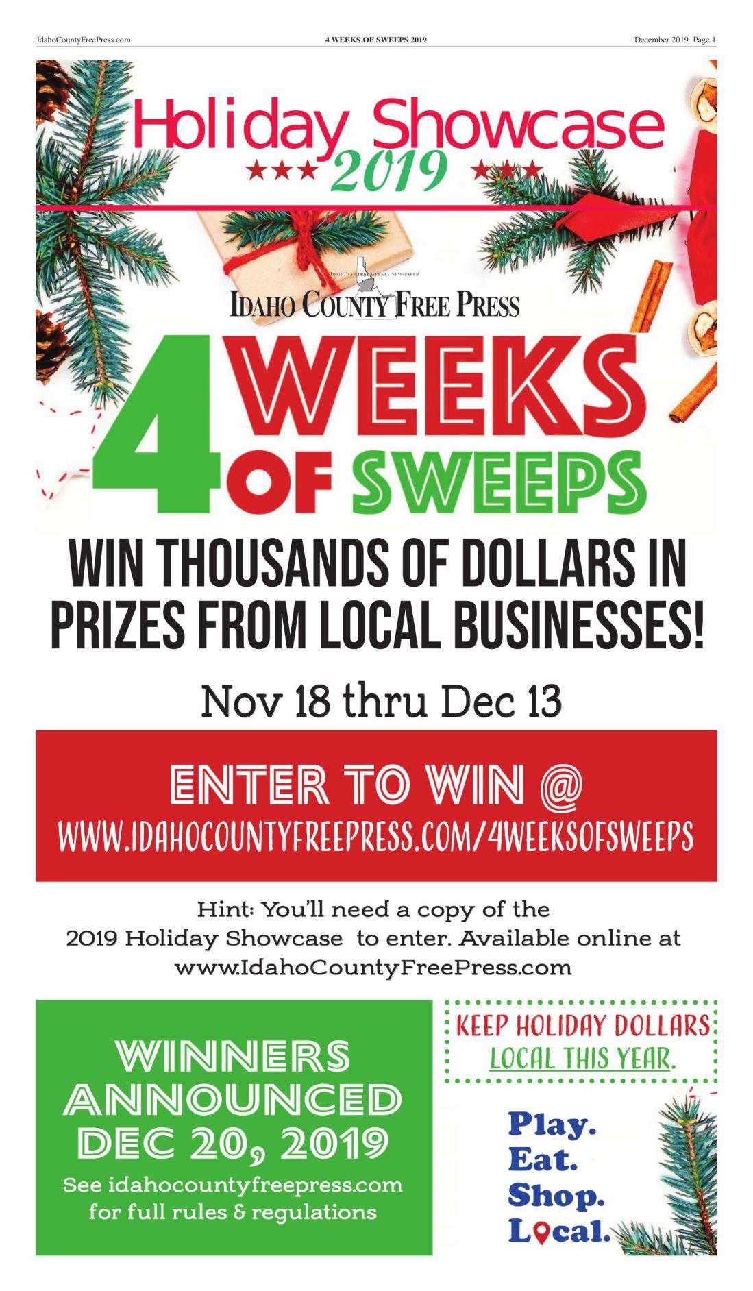 4 Weeks of Sweeps Holiday Showcase 2019
