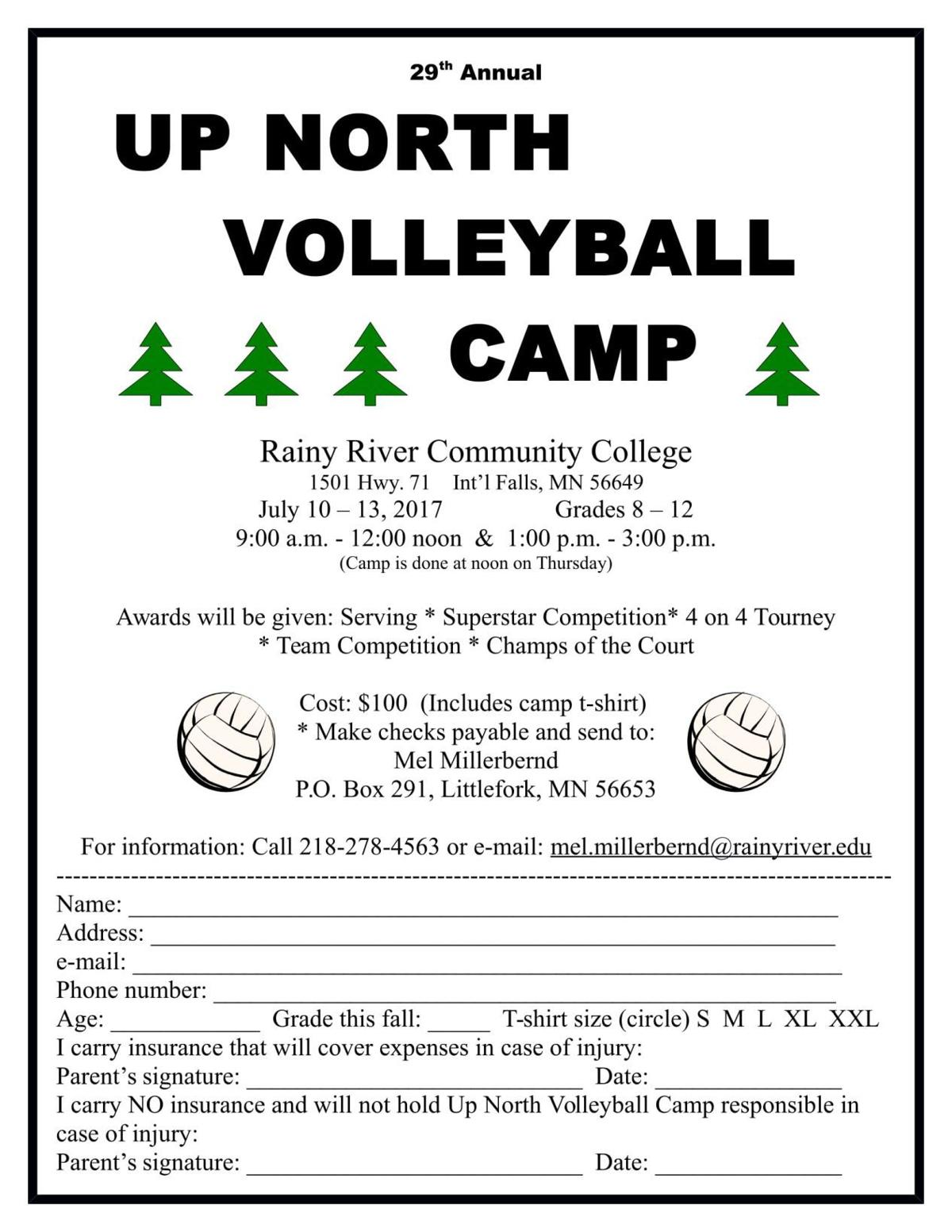 Volleyball camps set at RRCC | Sports | ifallsjournal com
