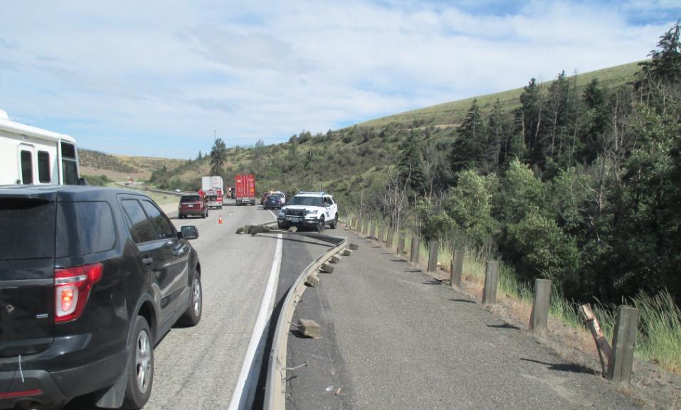 Driver injured in dump truck crash on I-90 near Ellensburg