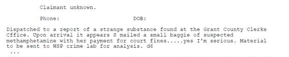 Drug envelope