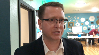 State Rep. Matt Shea, R-Spokane Valley, at a Liberty State rally in Wenatchee May 11, 2019.