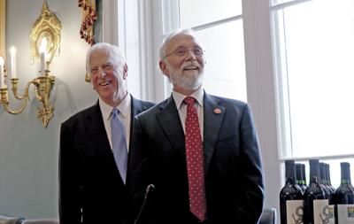 U.S. Rep. Dan Newhouse, right, and fellow Congressional Wine Caucus co-chair Rep. Mike Thompson.