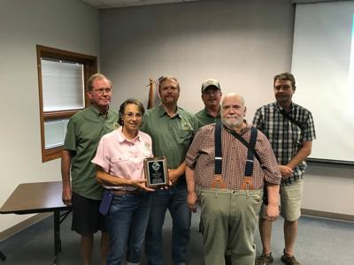 Members of the Wenatchee Sportsmen's Association receive the Washington Department of Fish and Wildlife's Organization of the Year award July 10 in Ephrata. 2019