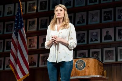 """Heidi Schreck in her Broadway play """"What the Constitution Means To Me"""""""