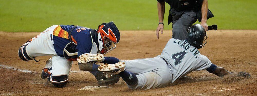 Marineros rompen racha perdedora al vencer 7-6 a Astros