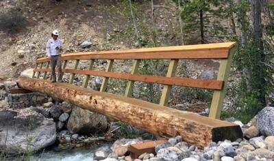 Bridge replacement on the Lakeshore Trail near Lyman Lake. 2019