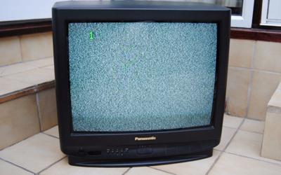"Panasonic 21"" television set"