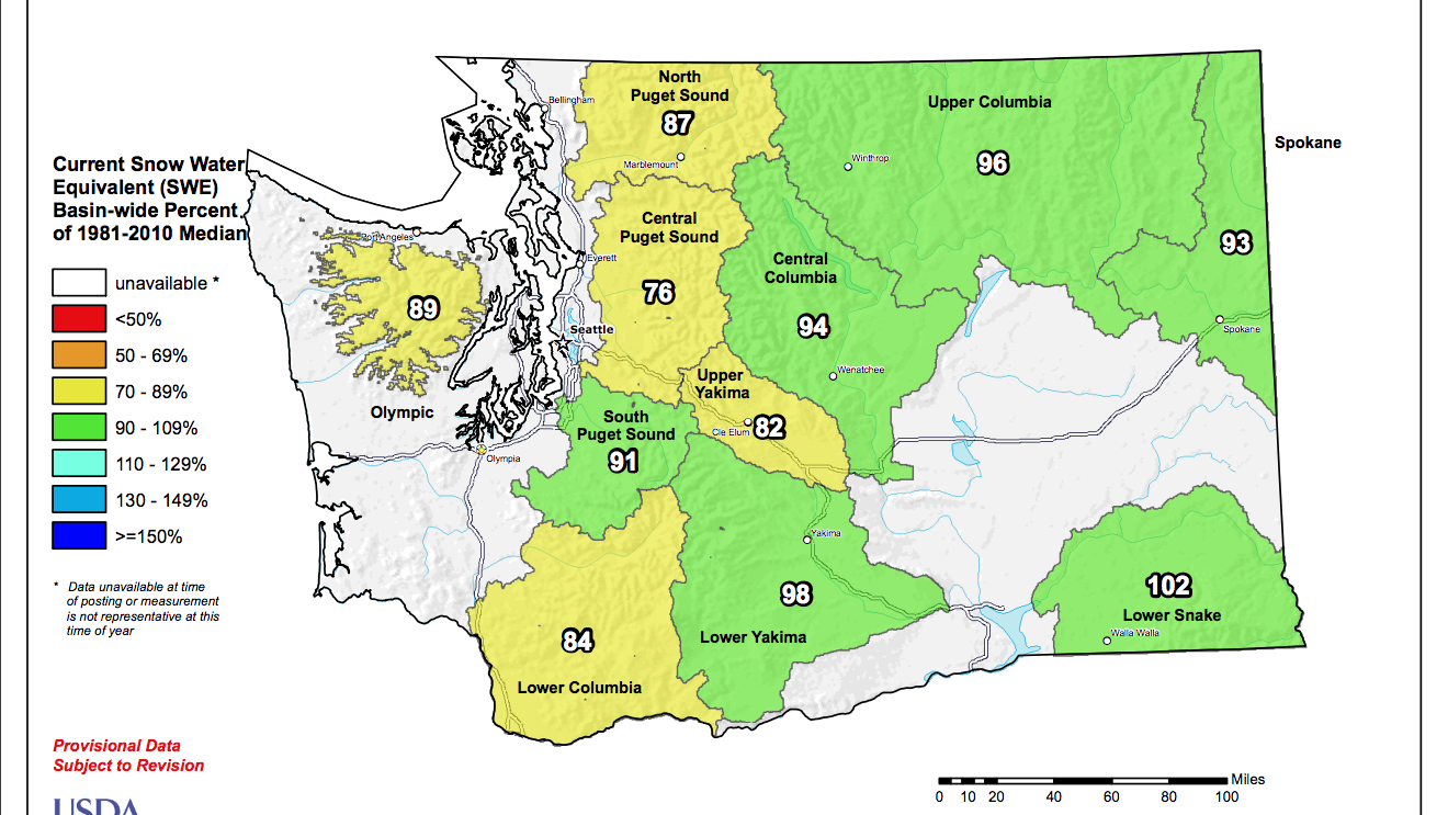 With February snowfall, mountain snowpack inches toward average
