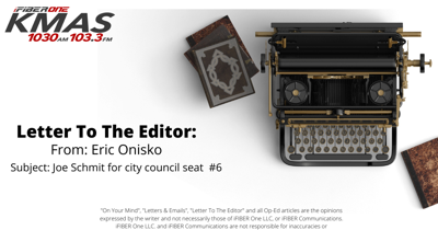 Letter To The Editor: Eric Onisko 091521