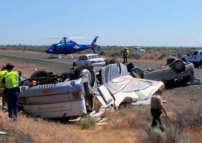 Oregon man critically injured in motorhome crash on I-90 near Moses