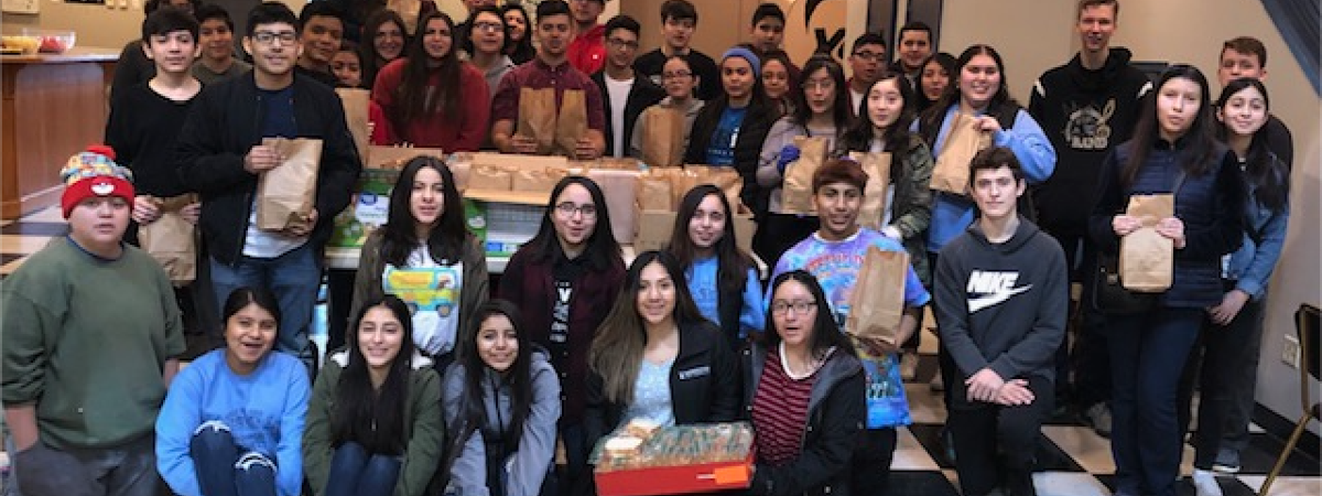 Big Bend Community College students assemble and donate sack lunches to Serve Moses Lake