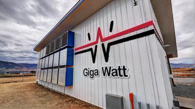 A Giga Watt cryptomining pod at Pangborn Airport Business Park.