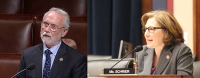 4th District U.S. Rep. Dan Newhouse (R), right, and 8th District U.S. Rep Kim Schrier (D)