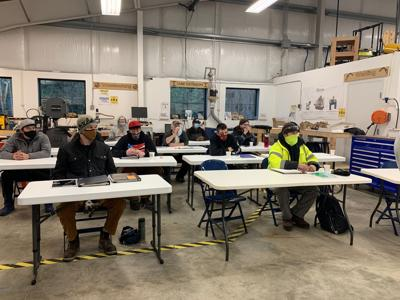 First cohort of 'Construction Bootcamp' in class at the Lacey Makerspace