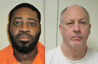 Convicted killers Allen Eugene Gregory, left, and Robert Lee Yates Jr.
