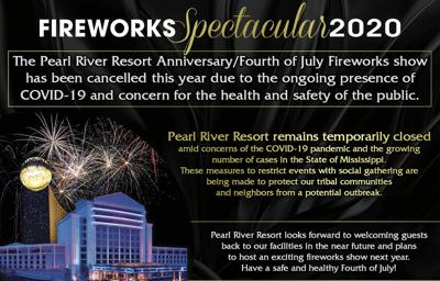 Pearl River Resort July 4 cancellation
