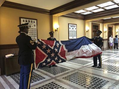 Honor Guard retires MS Flag