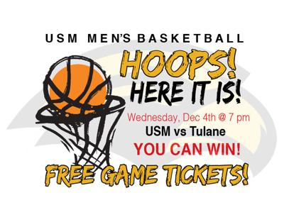 WIN FREE TICKETS to see USM vs Tulane (mens)