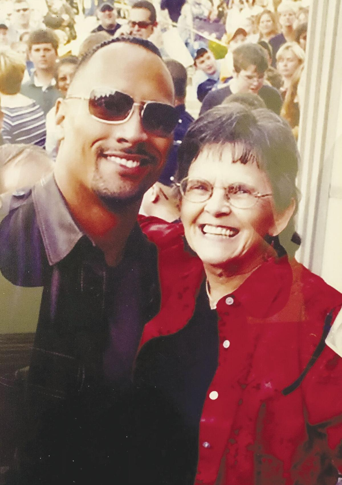 nancy Kennedy with The Rock