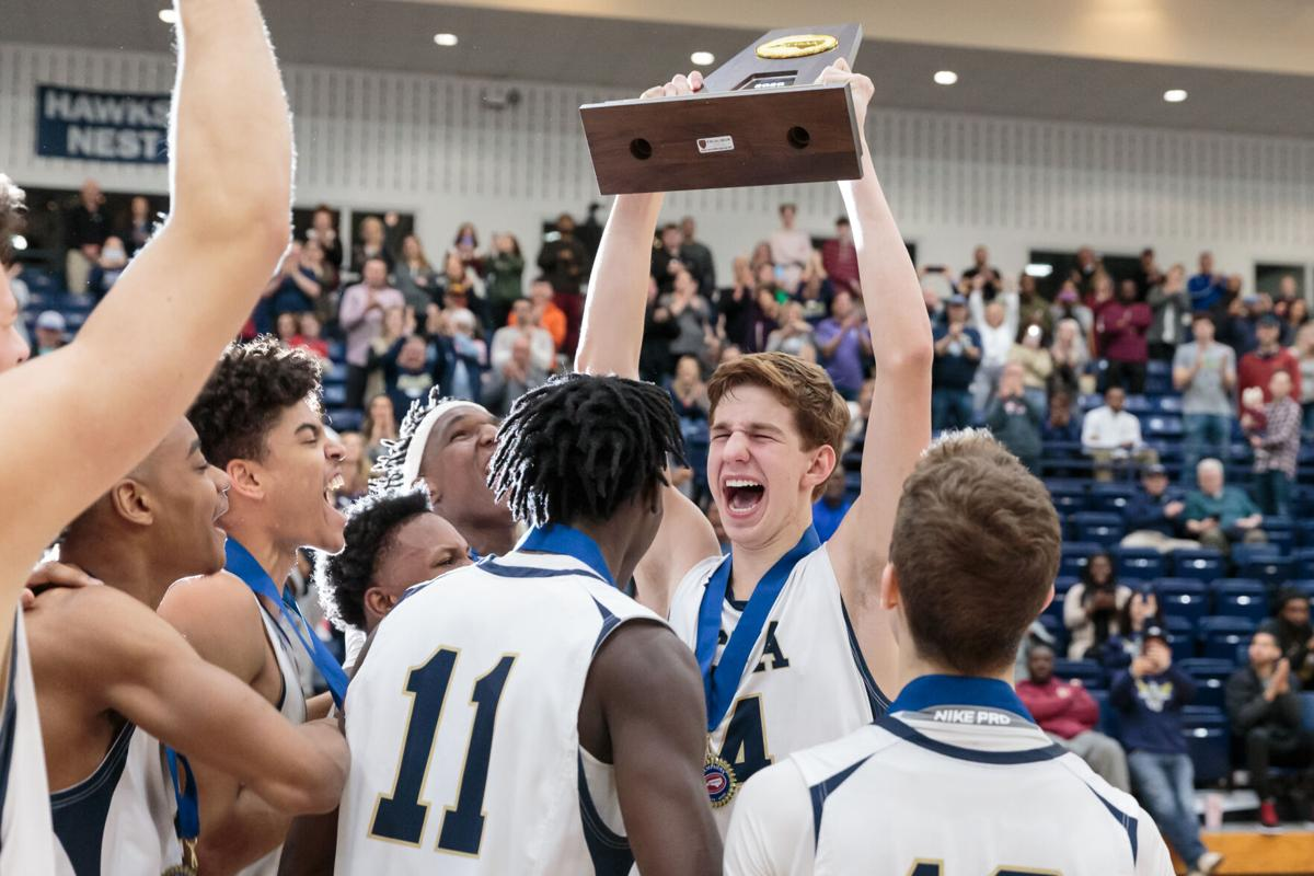 The Concord First Assembly Academy Eagles win the 2019-20 NCISAA Class 3A State Championship.