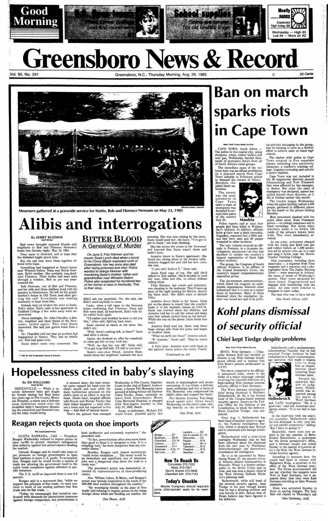 Bitter Blood: Alibis and interrogations
