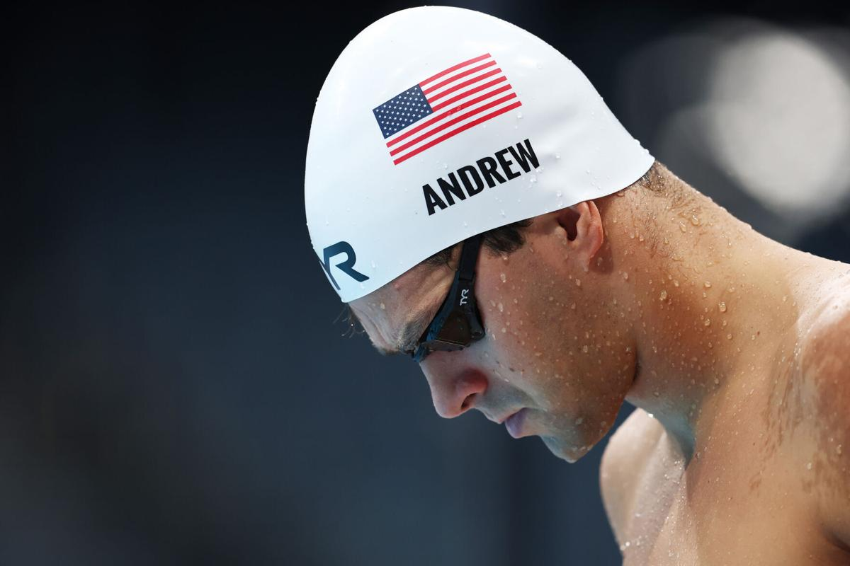 Michael Andrew of Team United States warms up on day five of the Tokyo 2020 Olympic Games at Tokyo Aquatics Centre on Wednesday, July 28, 2021 in Tokyo, Japan.
