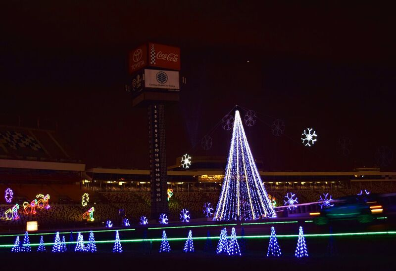 charlotte motor speedway christmas lights display kicks off saturday christianity independenttribunecom