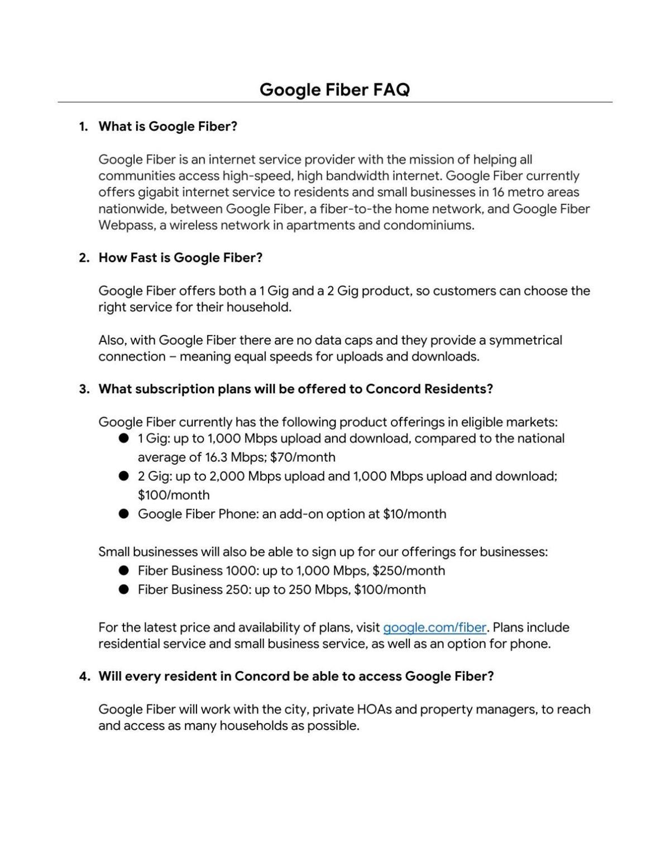 Google Fiber FAQ