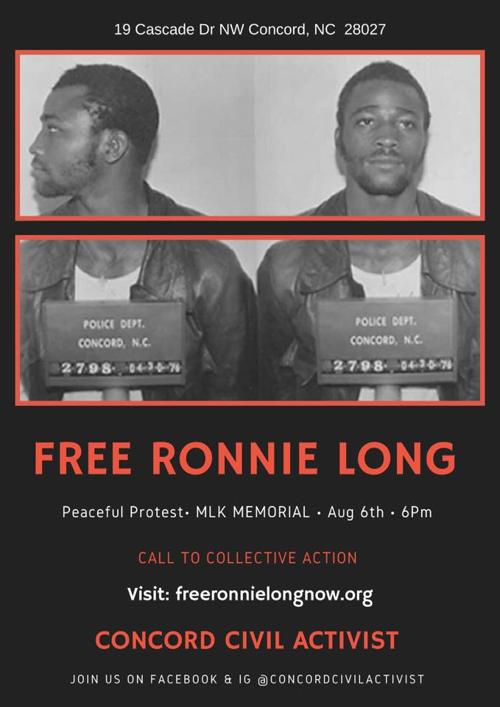 CCA Ronnie Long Protest Flier