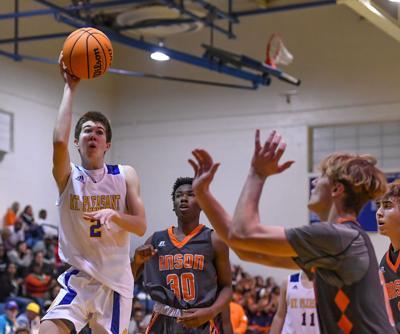 Friday night high school basketball action