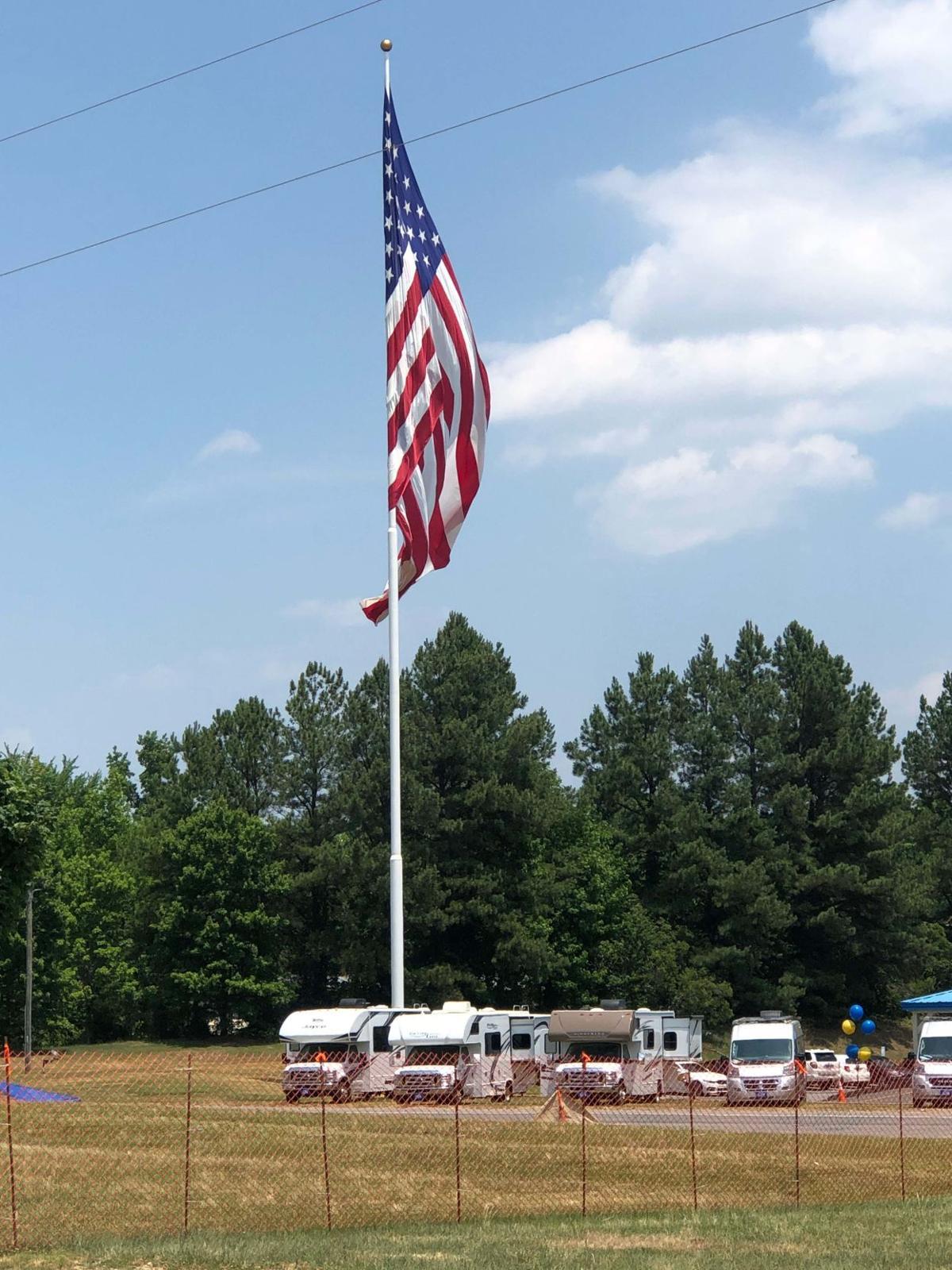 Flag at Tom Johnson