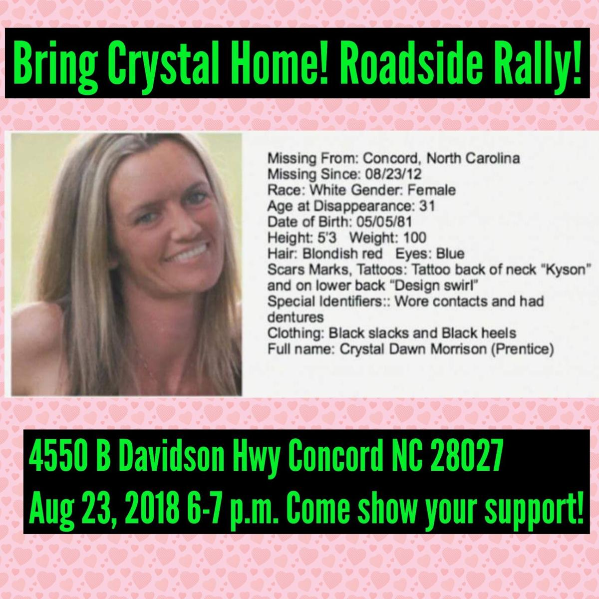 Crystal Morrison missing for six years