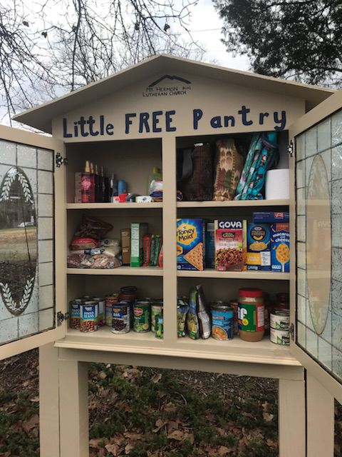 little free pantry offers food for those in need news. Black Bedroom Furniture Sets. Home Design Ideas