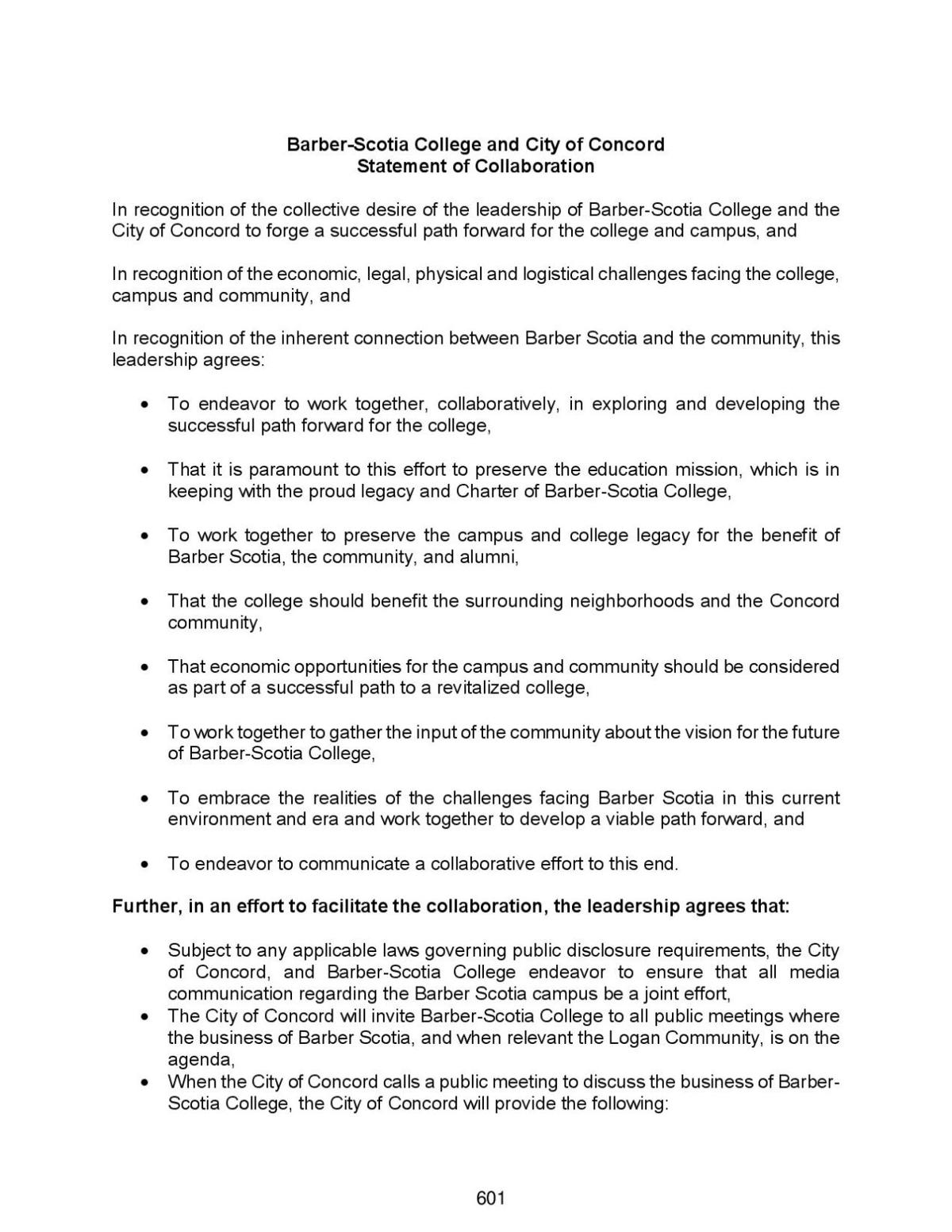 Barber-Scotia Agreement Page 1