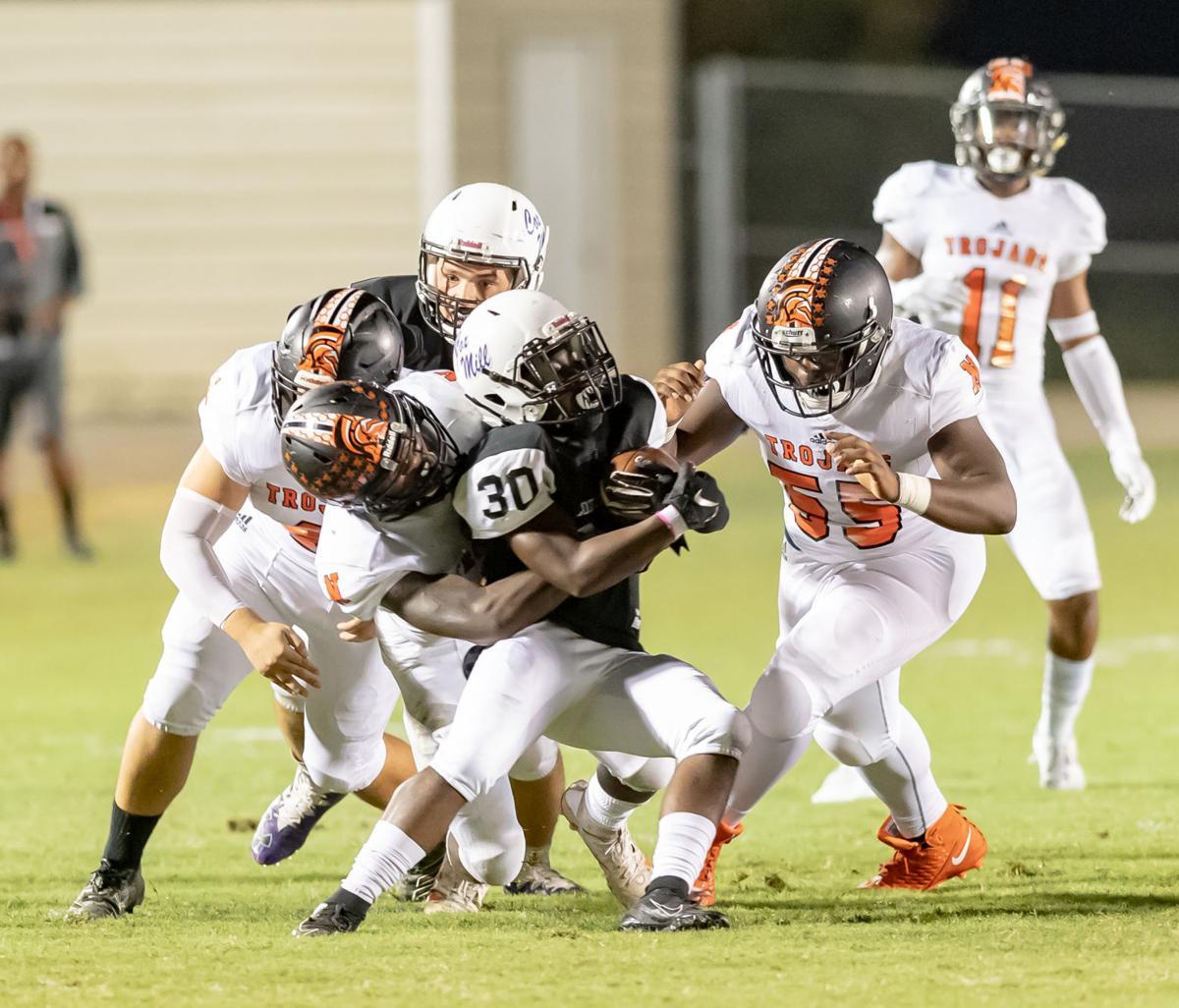 North Carolina high school football action