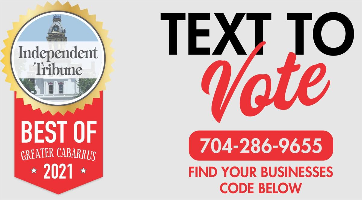 Best of Greater Cabarrus Text to Vote!