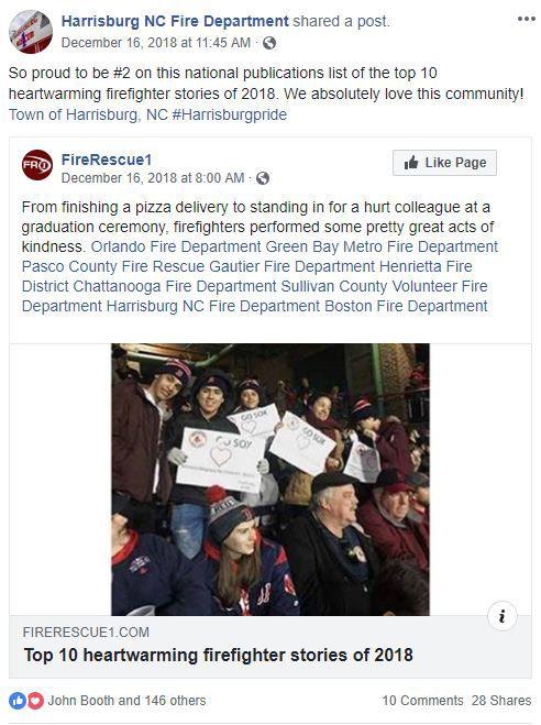 Harrisburg Department makes list of top heartwarming fire