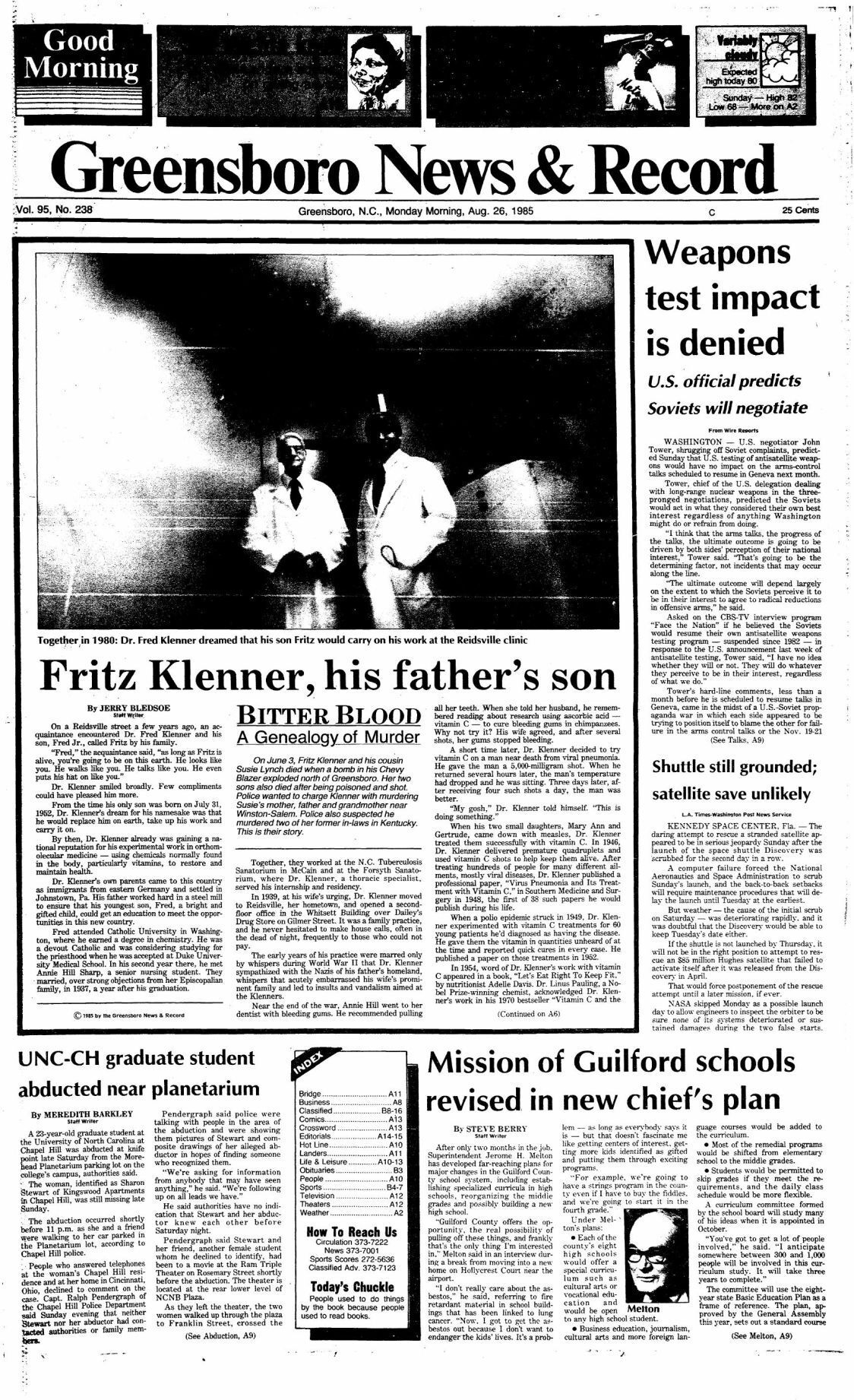 Bitter Blood: Fritz Klenner, his father's son