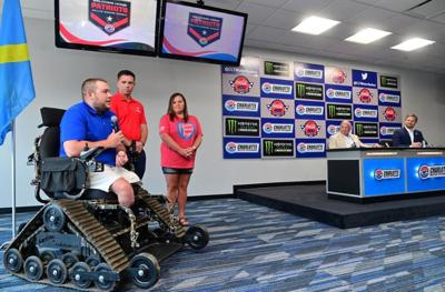 Wounded Navy veteran receives wheelchair