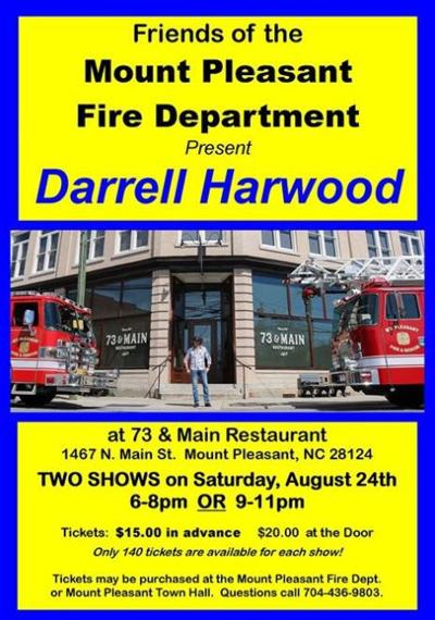 Darrell Harwood shows to raise money for fire department