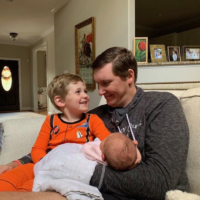 Floyd and children
