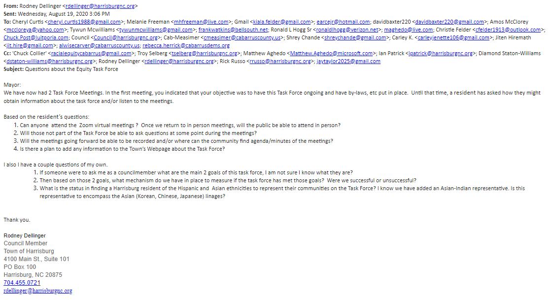 Rodney Dellinger and Steve Sciascia emails