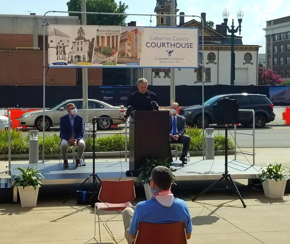 Groundbreaking ceremony for the courthouse