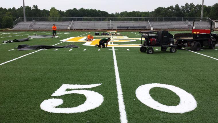 50 yard line shot of logo work 7-31-14.JPG