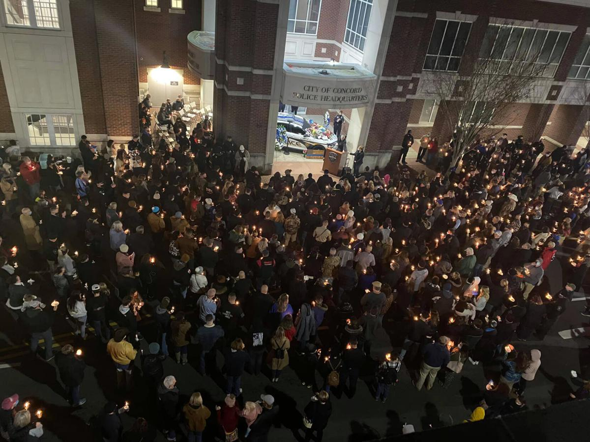 Vigil at Concord Police Department