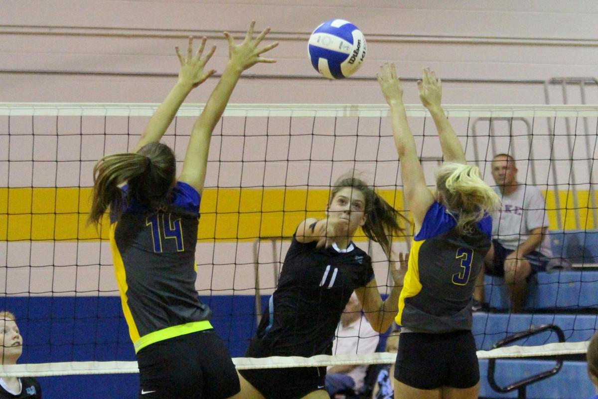 Cox Mill-Mount Pleasant volleyball